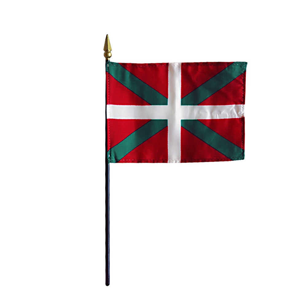 Miniature Basque Lands/Ikurrina Flag - ColorFastFlags | All the flags you'll ever need!