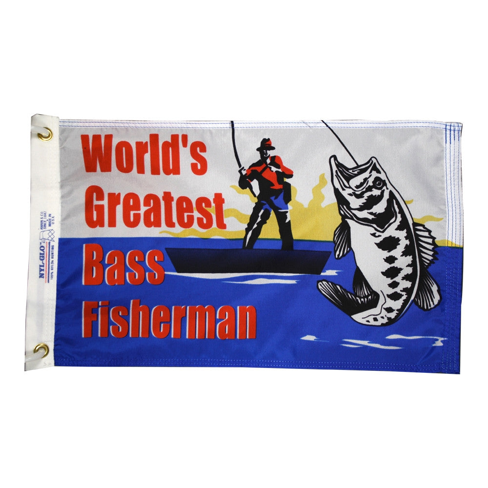 World's Greatest Bass Fisherman Flag - ColorFastFlags | All the flags you'll ever need!