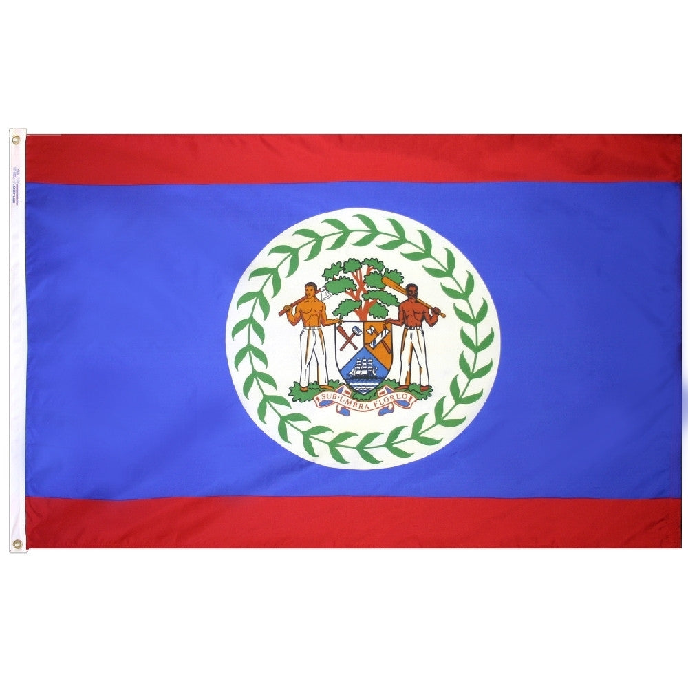 "Belize Courtesy Flag 12"" x 18"" - ColorFastFlags 