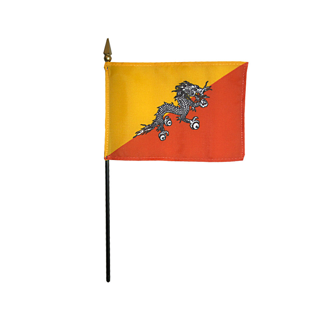 Miniature Bhutan Flag - ColorFastFlags | All the flags you'll ever need!