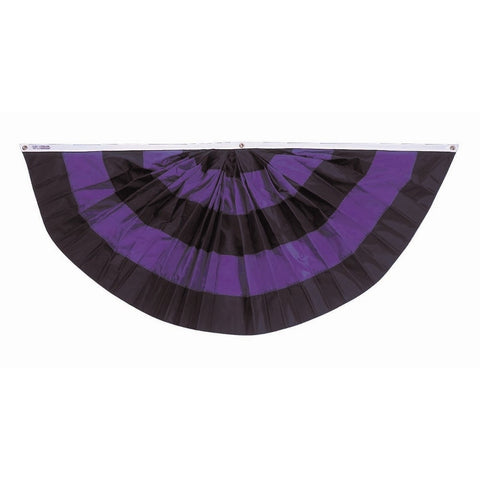 Black and Purple Mourning Fan - ColorFastFlags | All the flags you'll ever need!