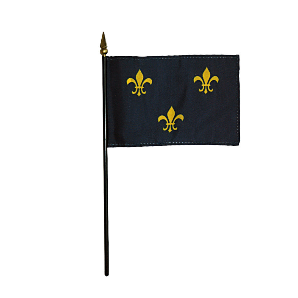 Miniature Fleur de Lis Flag - ColorFastFlags | All the flags you'll ever need!