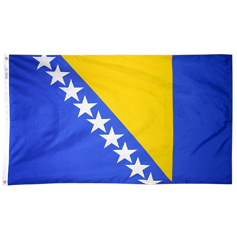 Bosnia-Herzegovina Flag - ColorFastFlags | All the flags you'll ever need!