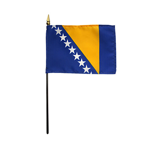 Miniature Bosnia-Herzegovina Flag - ColorFastFlags | All the flags you'll ever need!