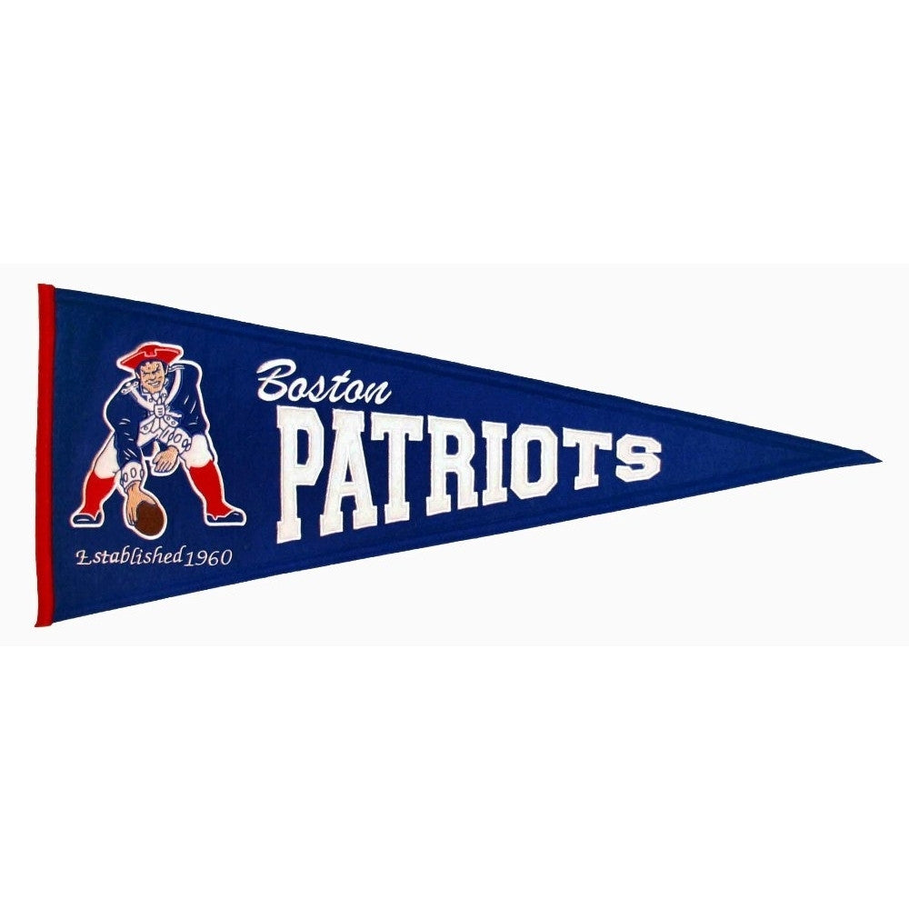 "Boston Patriots Felt Pennant 13"" x 32"" - ColorFastFlags 
