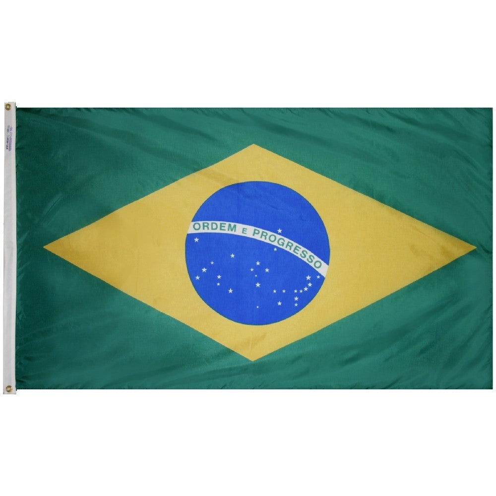 "Brazil Courtesy Flag 12"" x 18"" - ColorFastFlags 