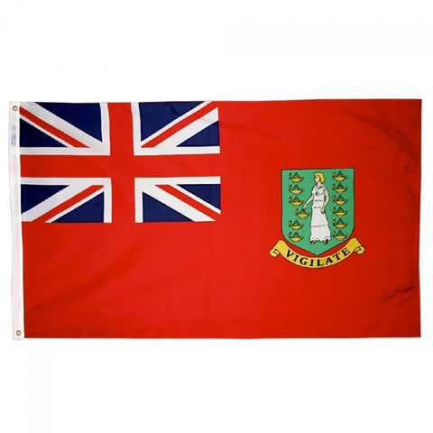 "British Virgin Islands Courtesy Flag 12"" x 18"" - ColorFastFlags 
