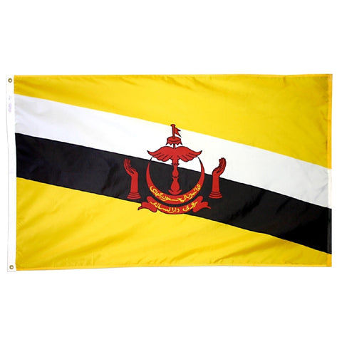 Brunei Flag - ColorFastFlags | All the flags you'll ever need!