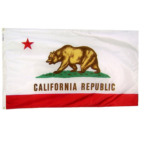 "California Courtesy Flag 12"" x 18"" - ColorFastFlags 