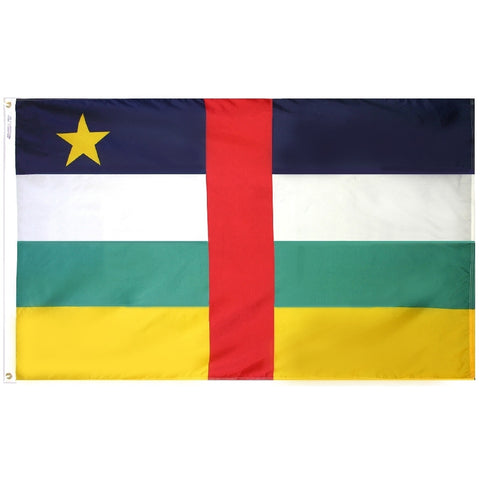 Central African Republic Flag - ColorFastFlags | All the flags you'll ever need!