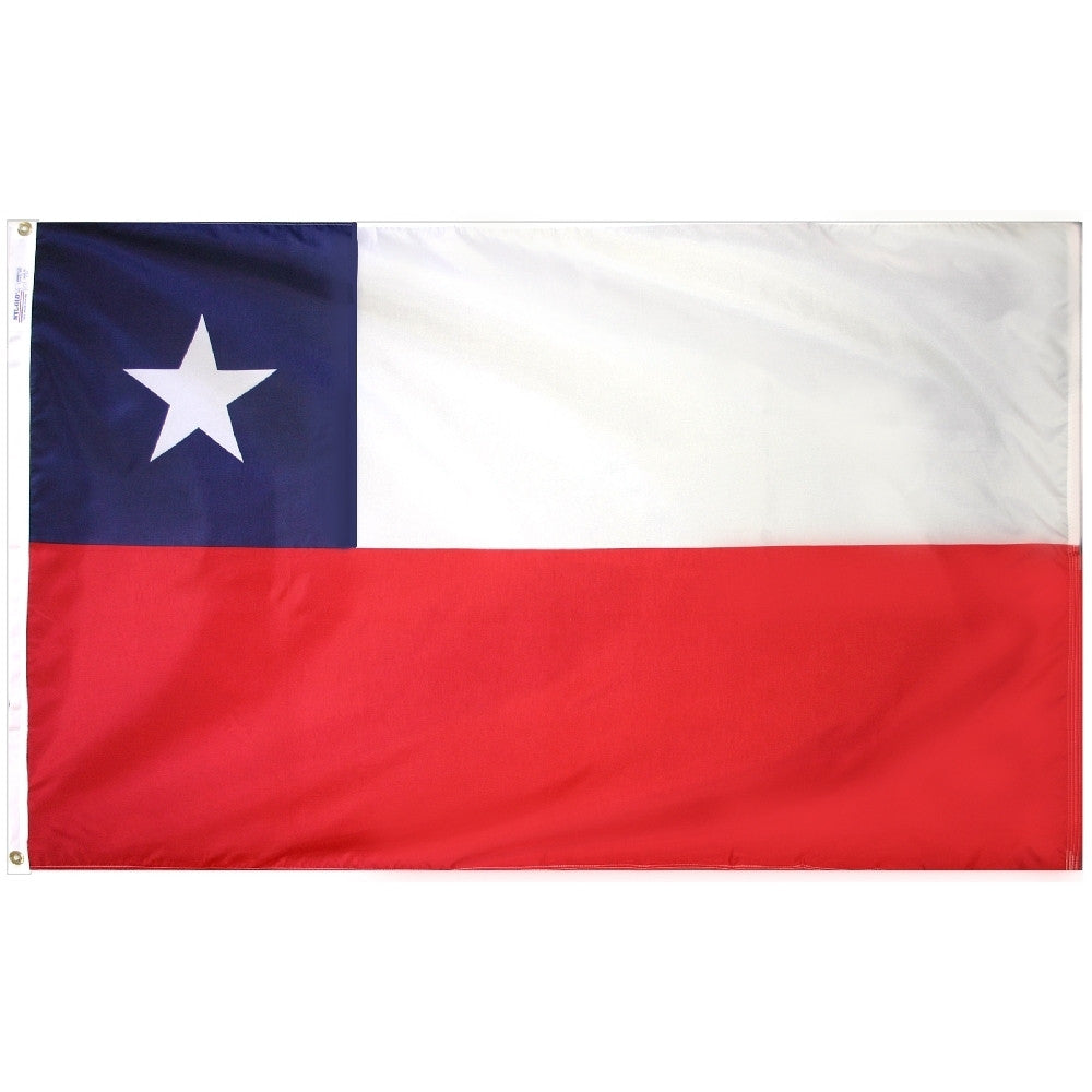 "Chile Courtesy Flag 12"" x 18"" - ColorFastFlags 