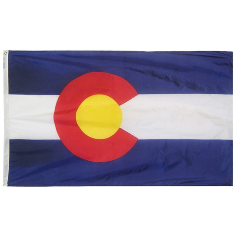 "Colorado Courtesy Flag 12"" x 18"" - ColorFastFlags 