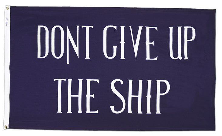 Commodore Perry Don't Give Up The Ship Flag - ColorFastFlags | All the flags you'll ever need!
