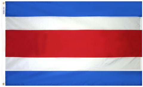 "Costa Rica Courtesy Flag 12"" x 18"" - ColorFastFlags 