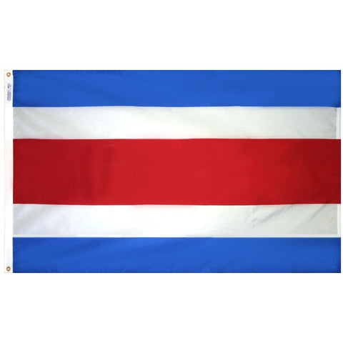 Costa Rica Civil Flag - ColorFastFlags | All the flags you'll ever need!