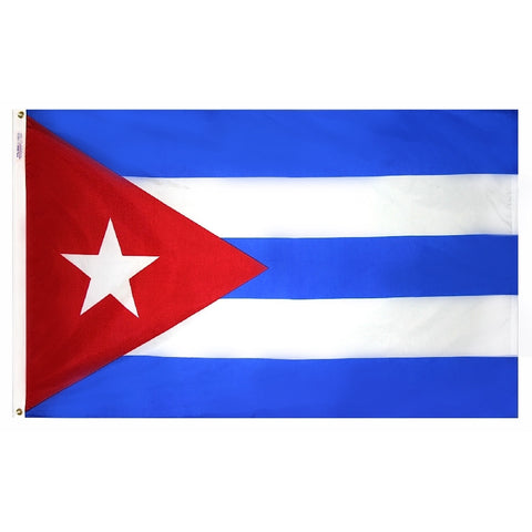 "Cuba Courtesy Flag 12"" x 18"" - ColorFastFlags 