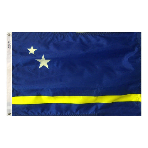 "Curacao Courtesy Flag 12"" x 18"" - ColorFastFlags 