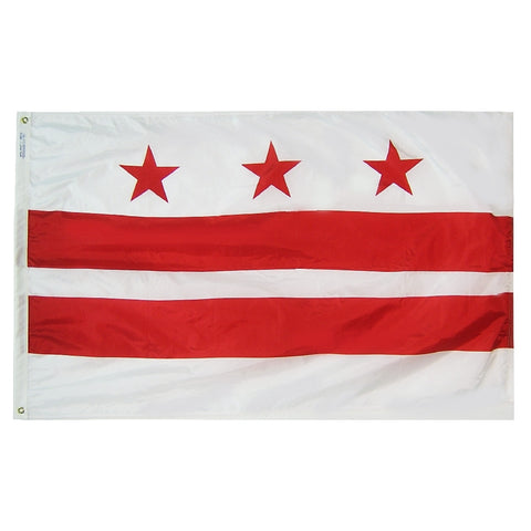 "District of Columbia Courtesy Flag 12"" x 18"" - ColorFastFlags 