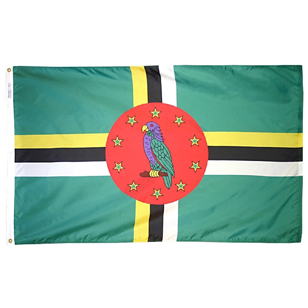 "Dominica Courtesy Flag 12"" x 18"" - ColorFastFlags 