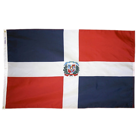 Dominican Republic Government Flag - ColorFastFlags | All the flags you'll ever need!