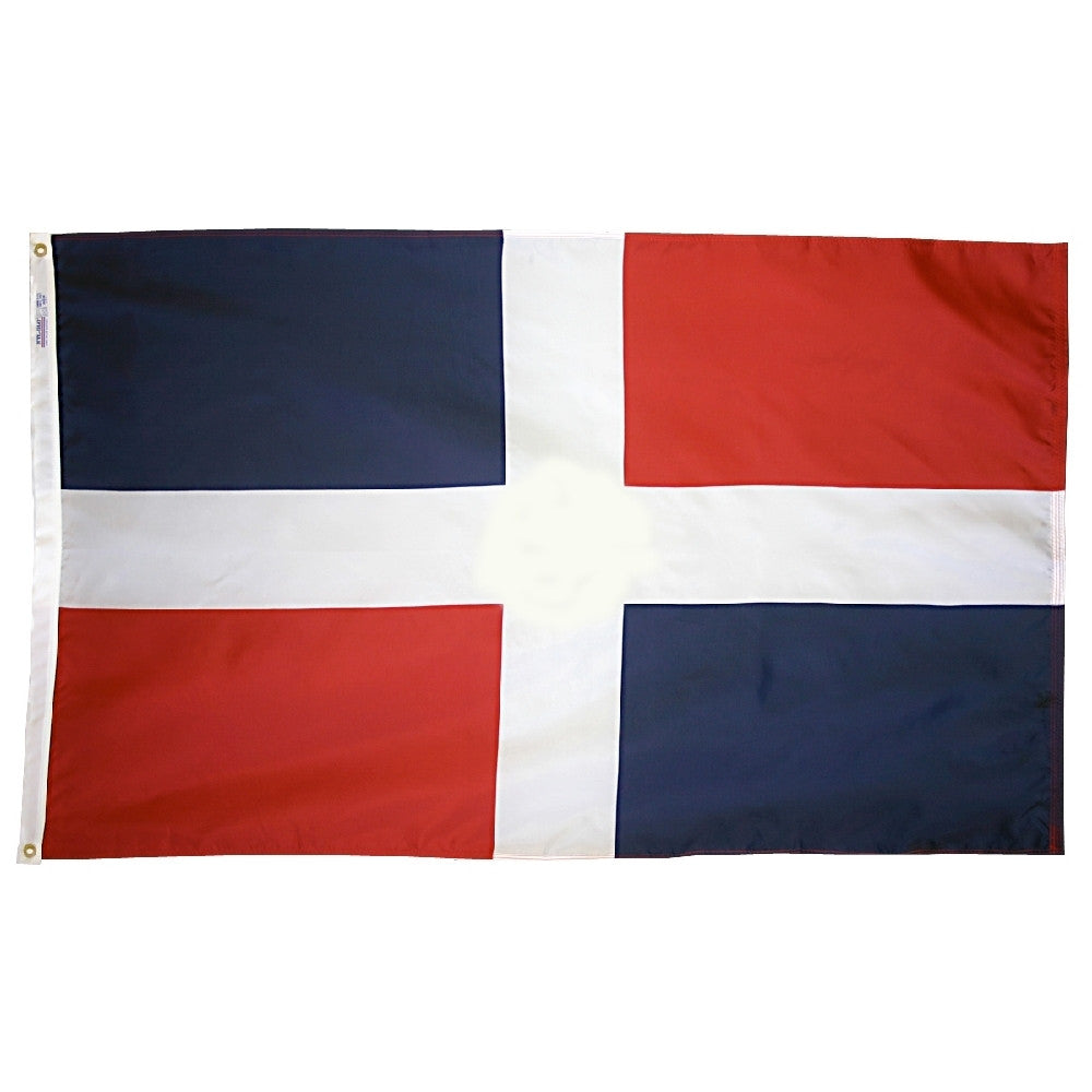 "Dominican Republic Courtesy Flag 12"" x 18"" - ColorFastFlags 