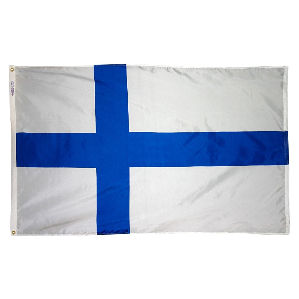 "Finland Courtesy Flag 12"" x 18"" - ColorFastFlags 