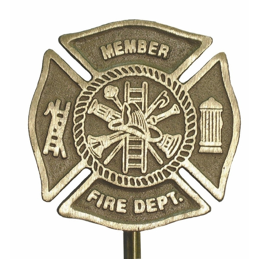 Bronze Grave Marker - Firefighter - ColorFastFlags | All the flags you'll ever need!