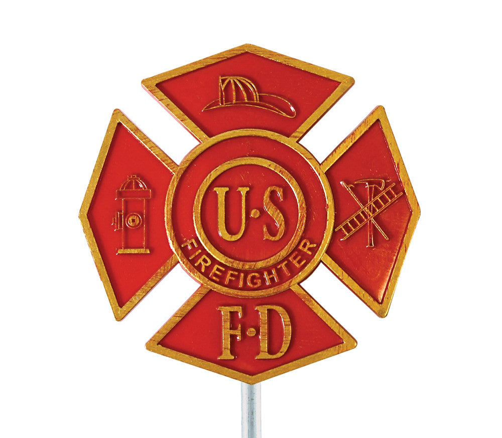Plastic Grave Marker - Firefighter - ColorFastFlags | All the flags you'll ever need!