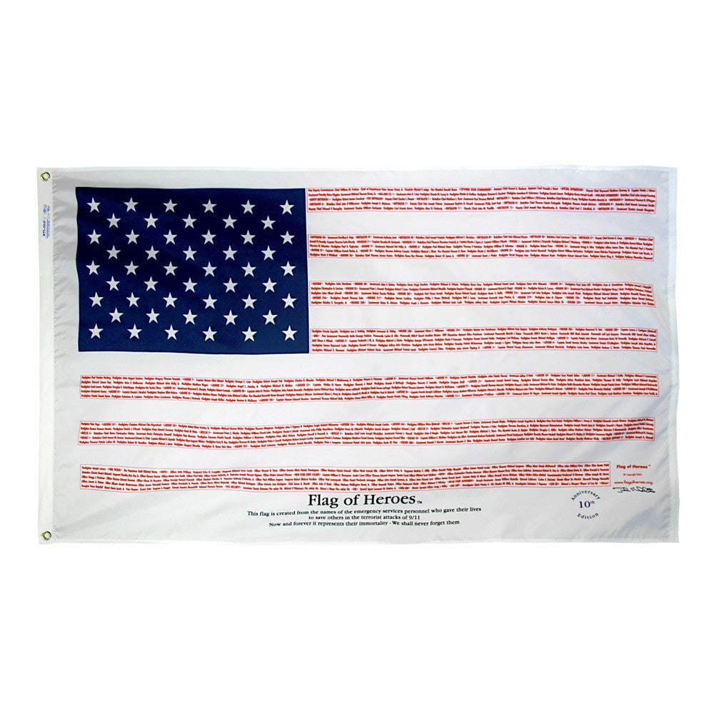 Flag of Heroes: 9/11 Memorial Flag - ColorFastFlags | All the flags you'll ever need!