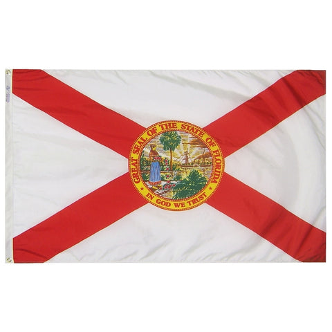 "Florida Courtesy Flag 12"" x 18"" - ColorFastFlags 