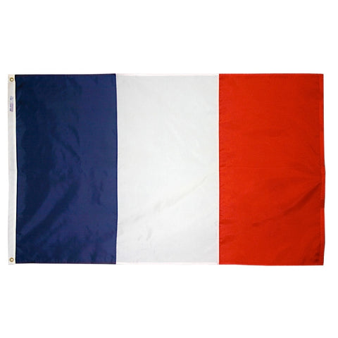 "France Courtesy Flag 12"" x 18"" - ColorFastFlags 
