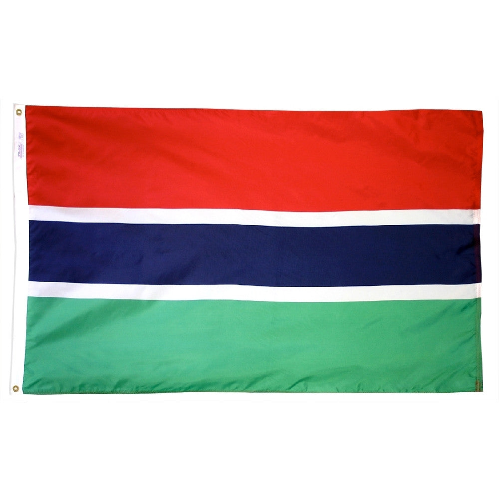 Gambia Flag - ColorFastFlags | All the flags you'll ever need!
