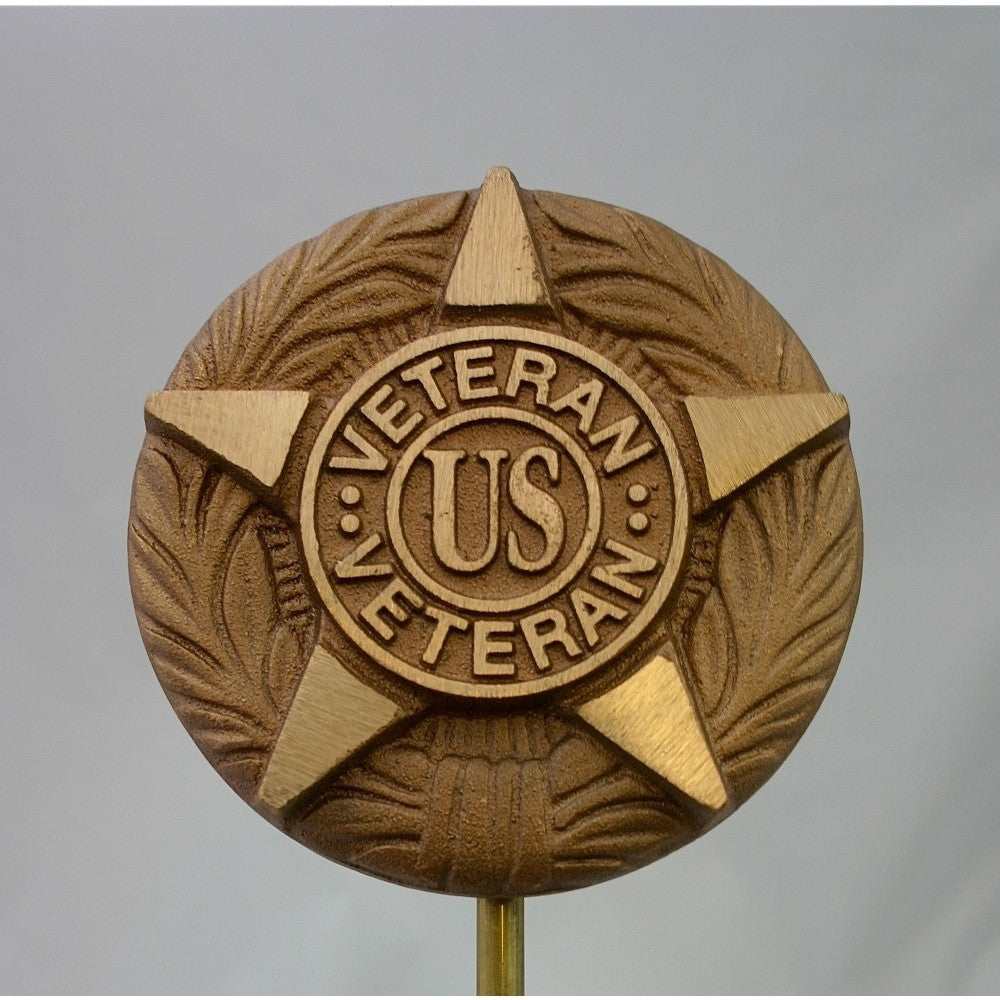 Bronze Grave Marker - General Military For All U.S. Veterans - ColorFastFlags | All the flags you'll ever need!