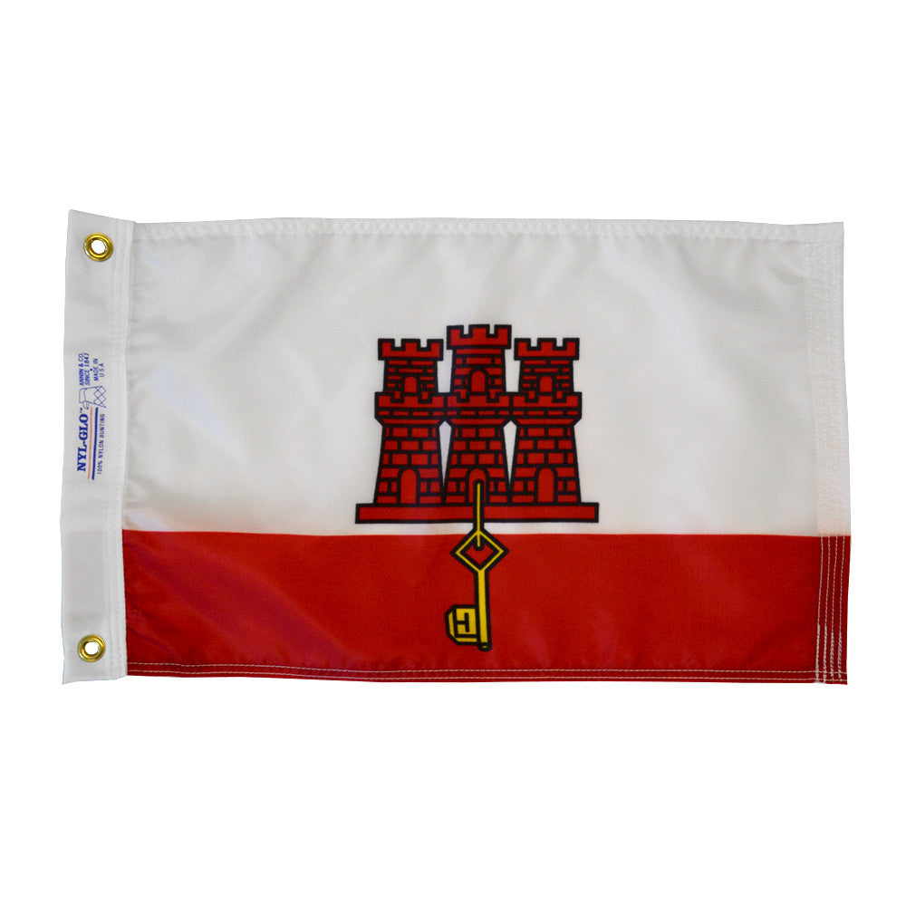 "Gibraltar Courtesy Flag 12"" x 18"" - ColorFastFlags 