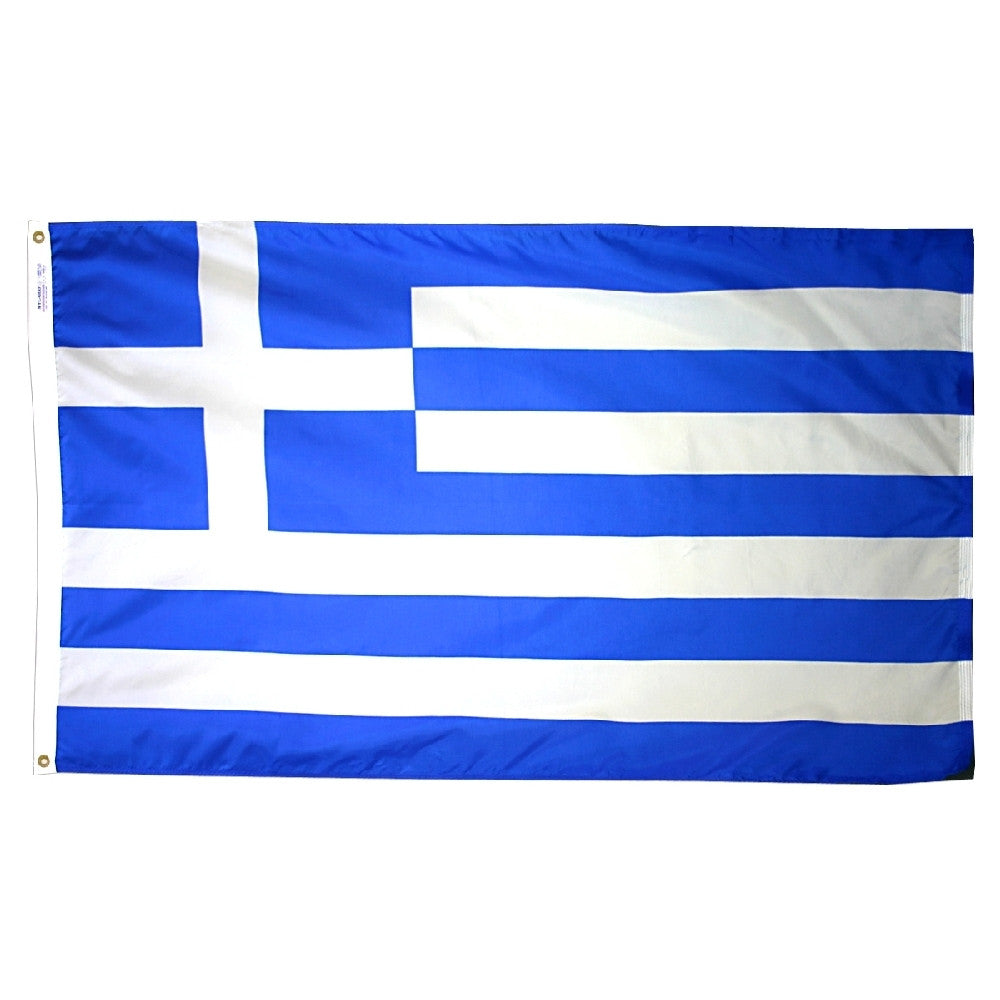 "Greece Courtesy Flag 12"" x 18"" - ColorFastFlags 