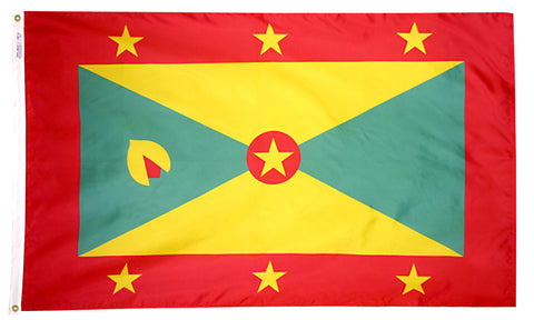 "Grenada Courtesy Flag 12"" x 18"" - ColorFastFlags 