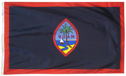 "Guam Courtesy Flag 12"" x 18"" - ColorFastFlags 