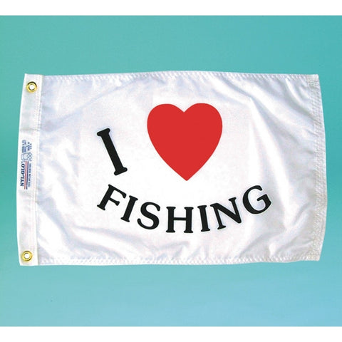 I Love Fishing Flag - ColorFastFlags | All the flags you'll ever need!