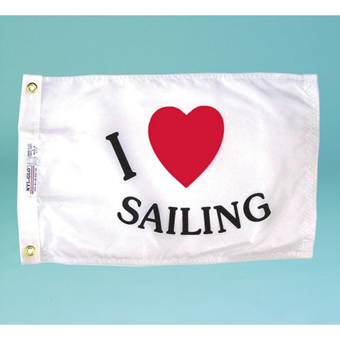 I Love Sailing Flag - ColorFastFlags | All the flags you'll ever need!