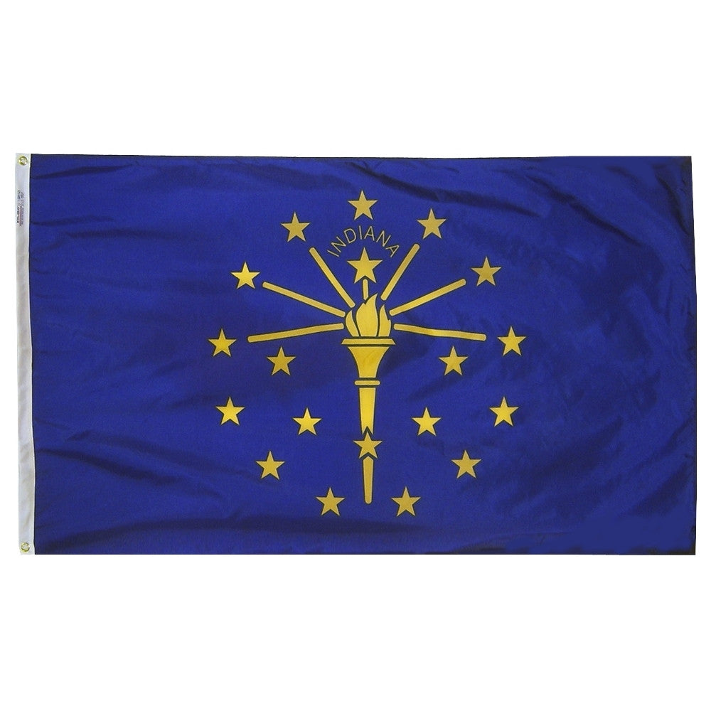 "Indiana Courtesy Flag 12"" x 18"" - ColorFastFlags 