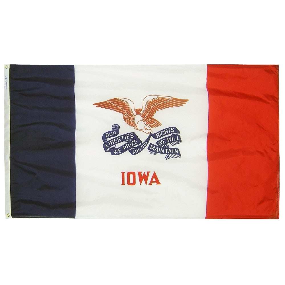 "Iowa Courtesy Flag 12"" x 18"" - ColorFastFlags 