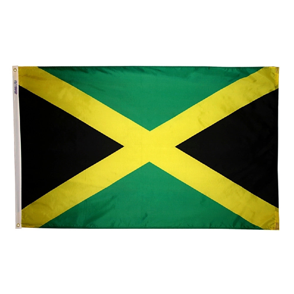 "Jamaica Courtesy Flag 12"" x 18"" - ColorFastFlags 
