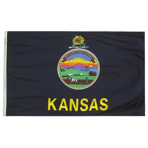 "Kansas Courtesy Flag 12"" x 18"" - ColorFastFlags 