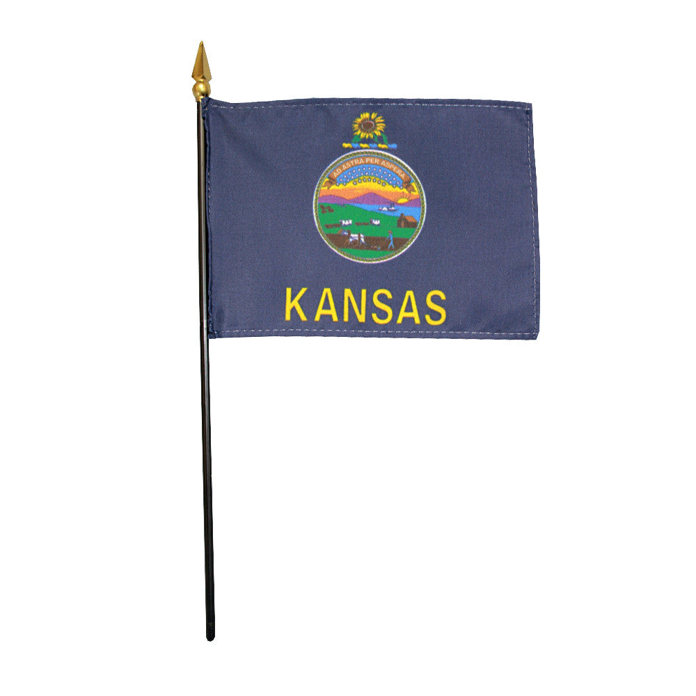 Miniature Flag - Kansas - ColorFastFlags | All the flags you'll ever need!