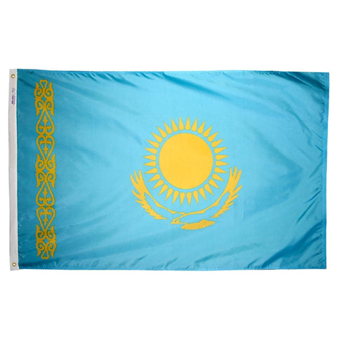 Kazakhstan Flag - ColorFastFlags | All the flags you'll ever need!