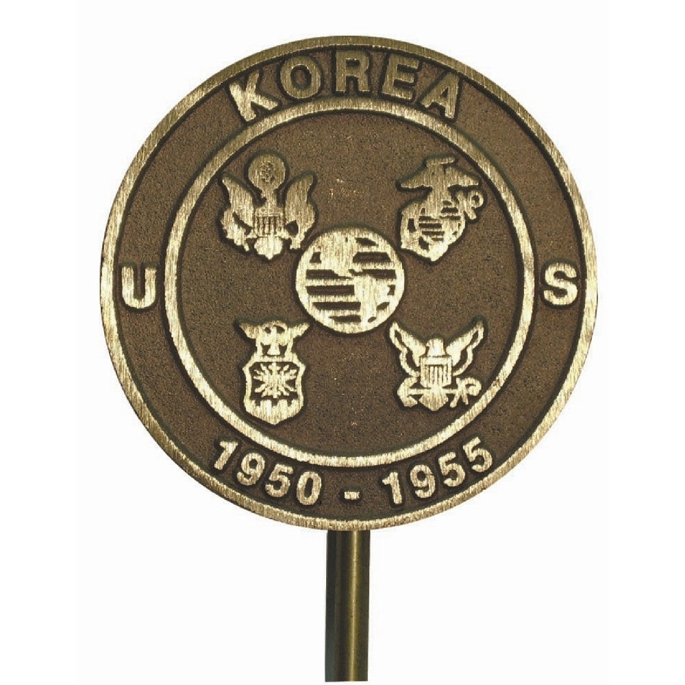 Bronze Grave Marker - Korean War - ColorFastFlags | All the flags you'll ever need!