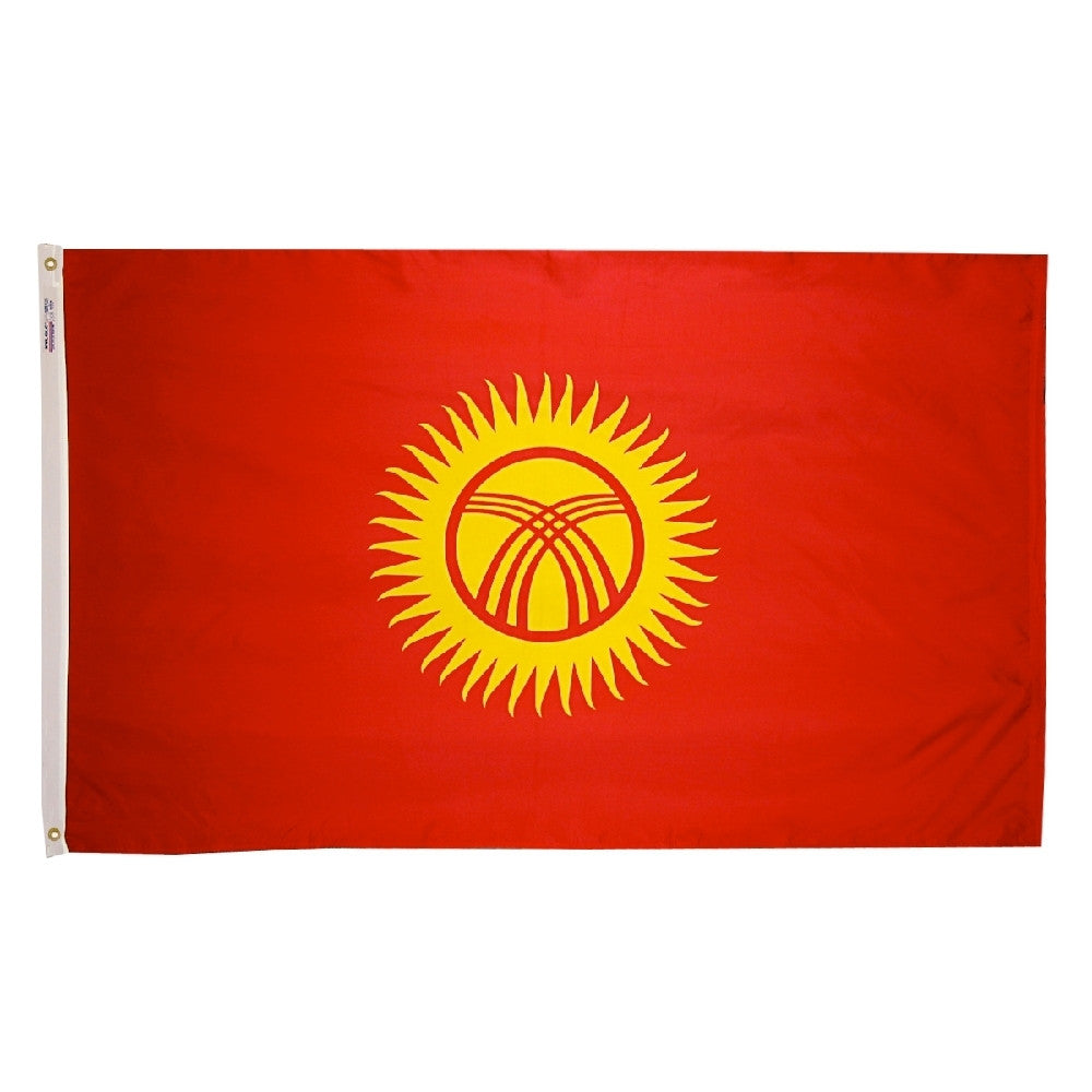 Kyrgyzstan Flag - ColorFastFlags | All the flags you'll ever need!