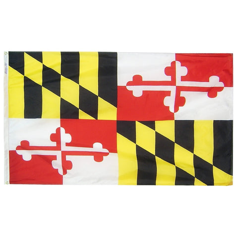 "Maryland Courtesy Flag 12"" x 18"" - ColorFastFlags 