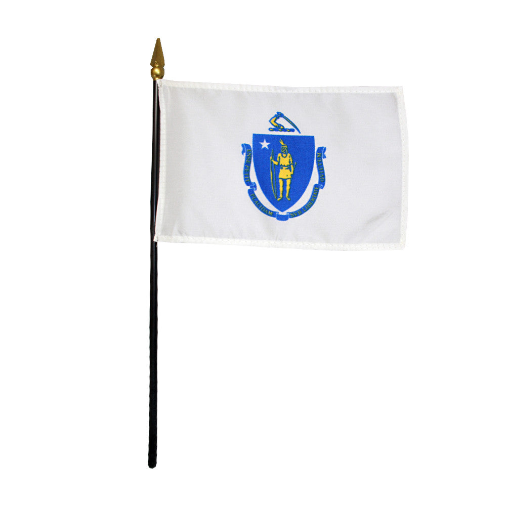 Miniature Flag - Massachusetts - ColorFastFlags | All the flags you'll ever need!