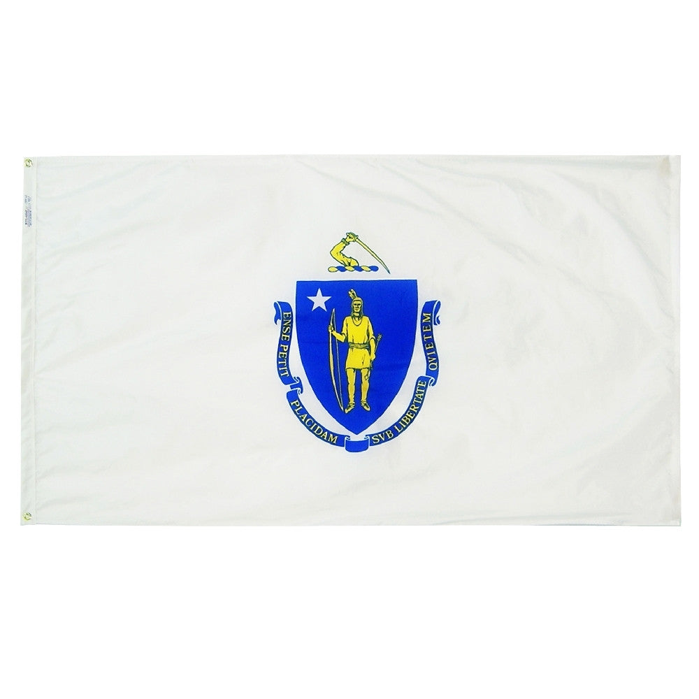 "Massachusetts Courtesy Flag 12"" x 18"" - ColorFastFlags 